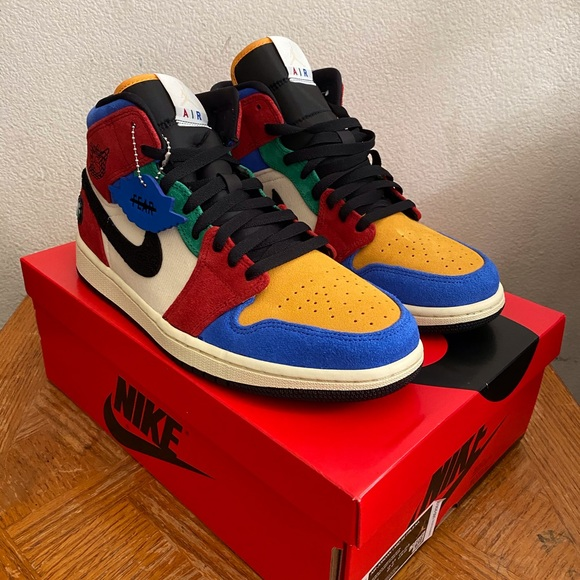 Nike Shoes Blue The Great X Aj1 Mid Fearless Size 95 Poshmark